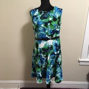 Upcycled Watercolor Dress M-L 10-12